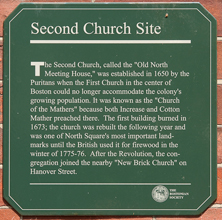 Second Church plaque