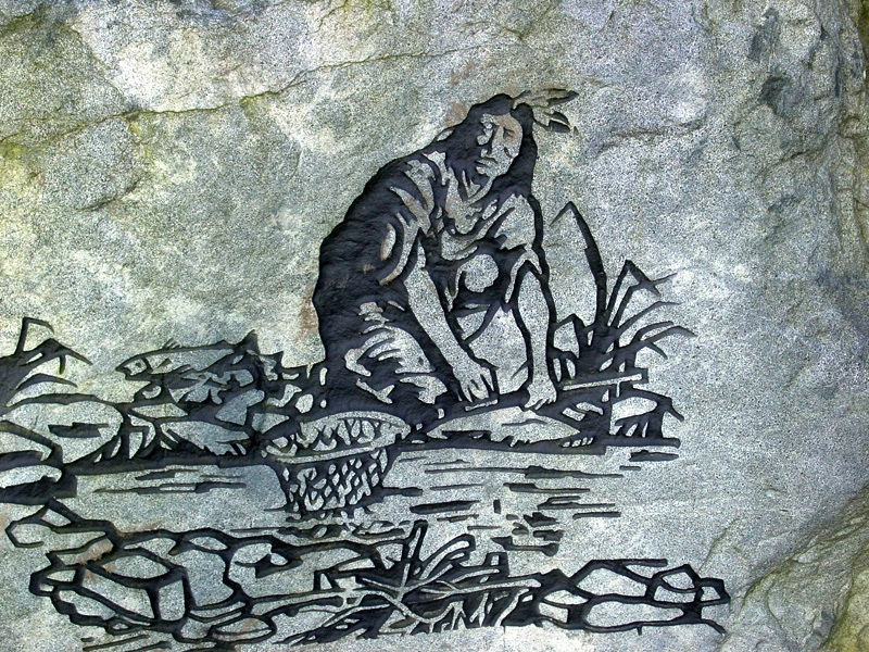Woodblock of Algonquin