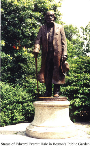 Statue of E E Hale in the Public Gardens