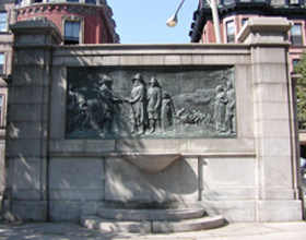 Founders Monument in the Boston Common