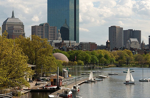 View of Boston Skyline from the Charles River
